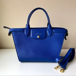 $1120 Longchamp Le Pilage Heritage Bag in Blue
